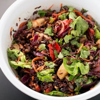 Vegan Forbidden Black Rice Salad