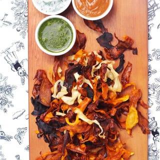 Homemade Veggie Chips and Dips