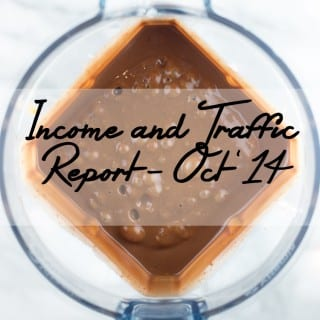 Food Blog Income Report & Traffic Stats, October 2014