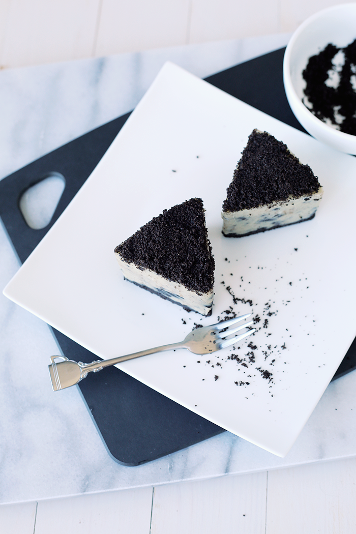 Vegan Oreo Cheesecake Recipe - No Bake #veganfood #veganrecipes #oreos #cheesecake #cashewcheesecake