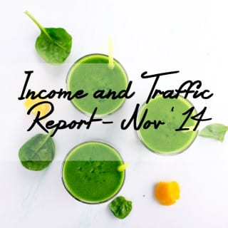 Food Blog Income Report & Traffic Stats, November 2014