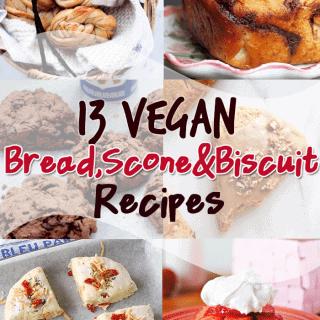 13 Vegan Bread, Scone and Biscuit Recipes #baking #vegan #recipes #delicious