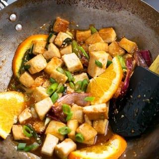 Pan-Fried Orange Tofu