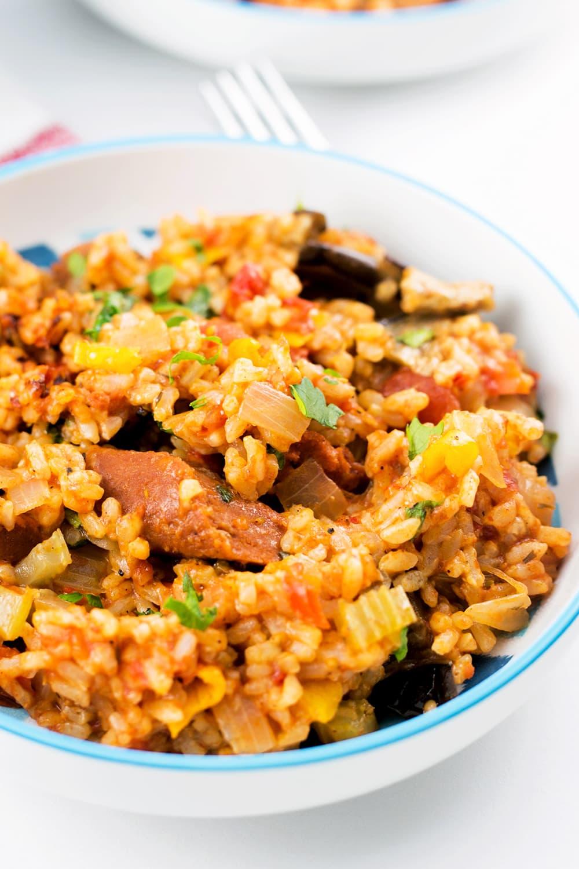Easy Cajun Jambalaya (Vegan)   My WIfe Makes