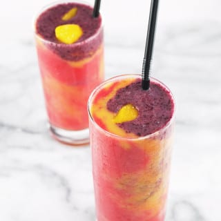 Healthy Tie-Dye Fruit Smoothie