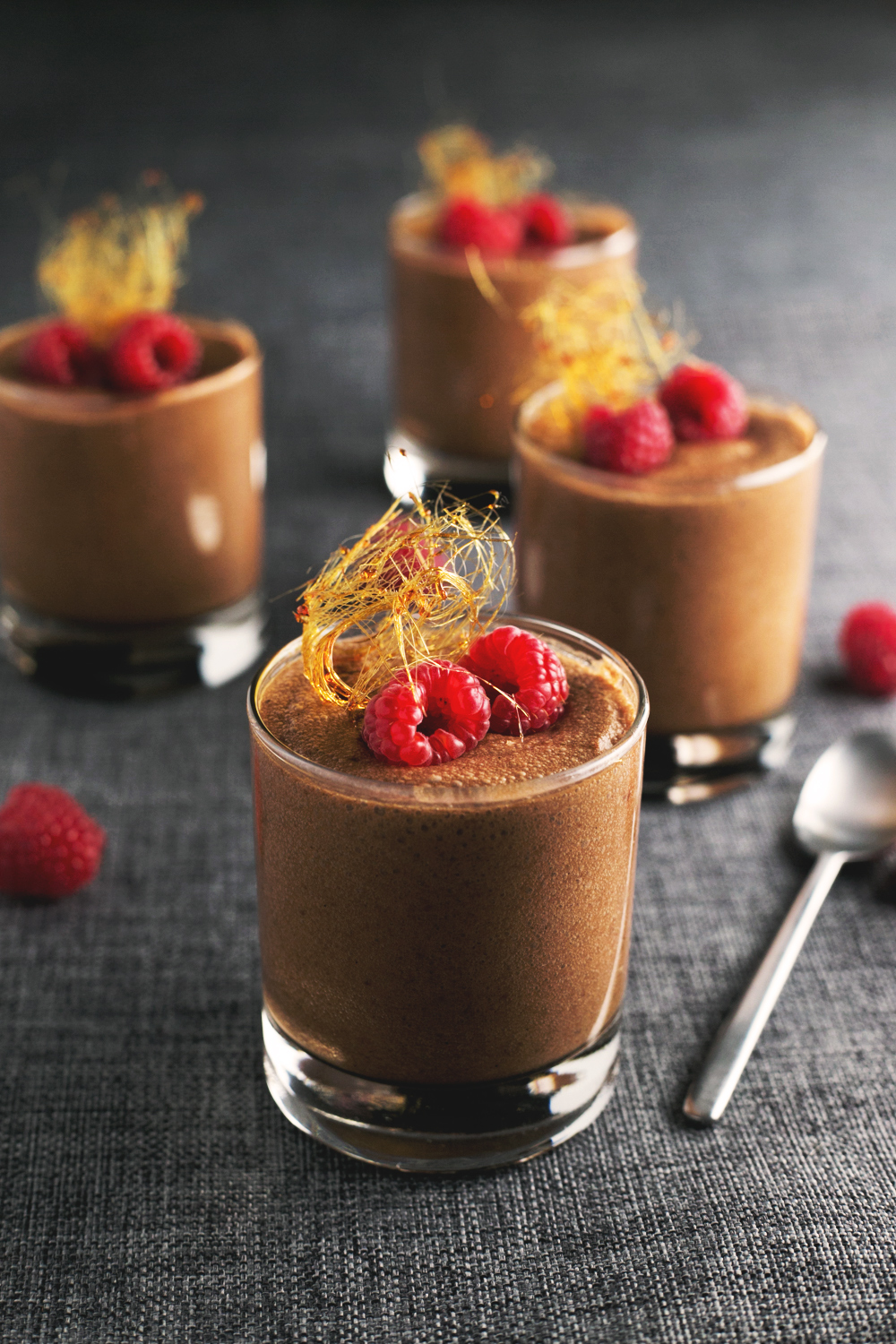 vegan chocolate mousse made with aquafaba  chickpea brine