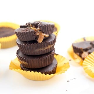5 Ingredient Vegan Caramel Peanut Butter Cups