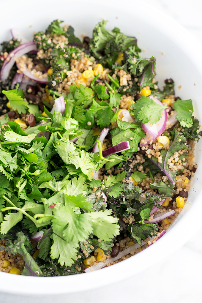 Vegan Mexican Quinoa Salad #vegetarianquinoasalad #healthy #vegan #recipes #mexican #quinoa #