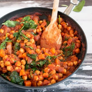 Vegan Spanish Chickpea And Sweet Potato Stew