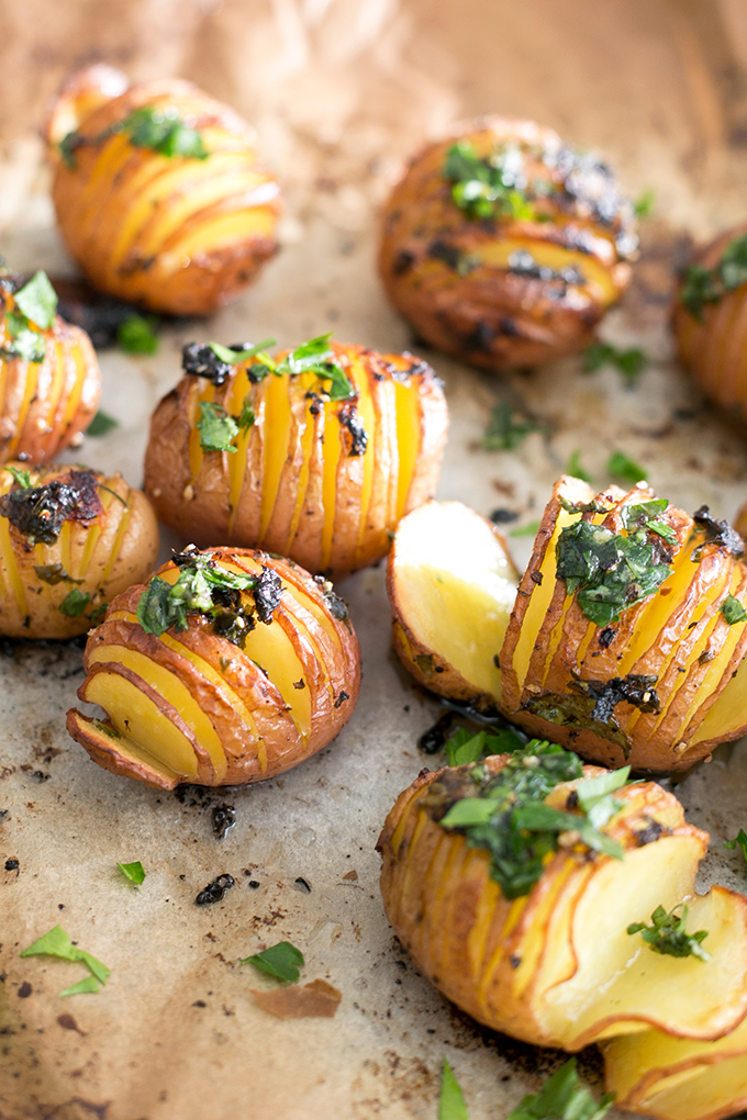 Vegan Lemon Garlic Herb Roasted Potatoes | Crazy Vegan Kitchen