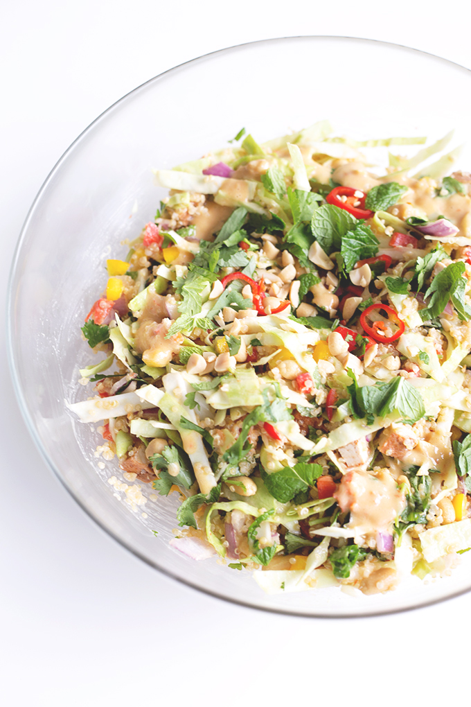 Vegan thai quinoa salad with peanut lemongrass dressing Dressing a kitchen