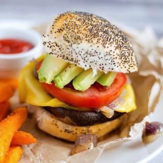 Easiest Vegan Portobello Mushroom Burgers