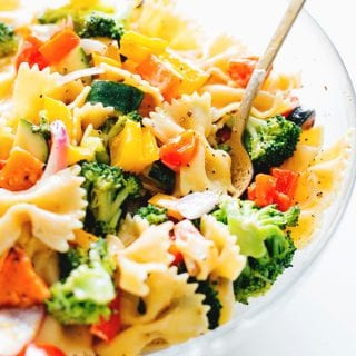 Trippy Vegan Rainbow Pasta Salad