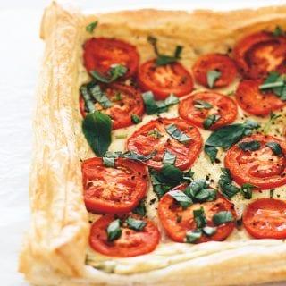 Easy Vegan Tomato Tart With Tofu Basil Cream