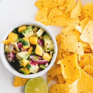 5 Minute Mango Avocado Salsa