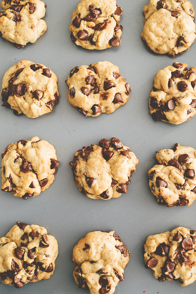 Small Batch Vegan Chocolate Chip Cookies - A delicious recipe for just 12 Vegan Chocolate Chip Cookies. One Bowl and No Mixer Required. #vegan #chocolatechipcookies #cookies #baking #veganbaking #veganrecipes