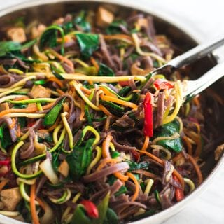 Healthy Vegan Japchae Noodles