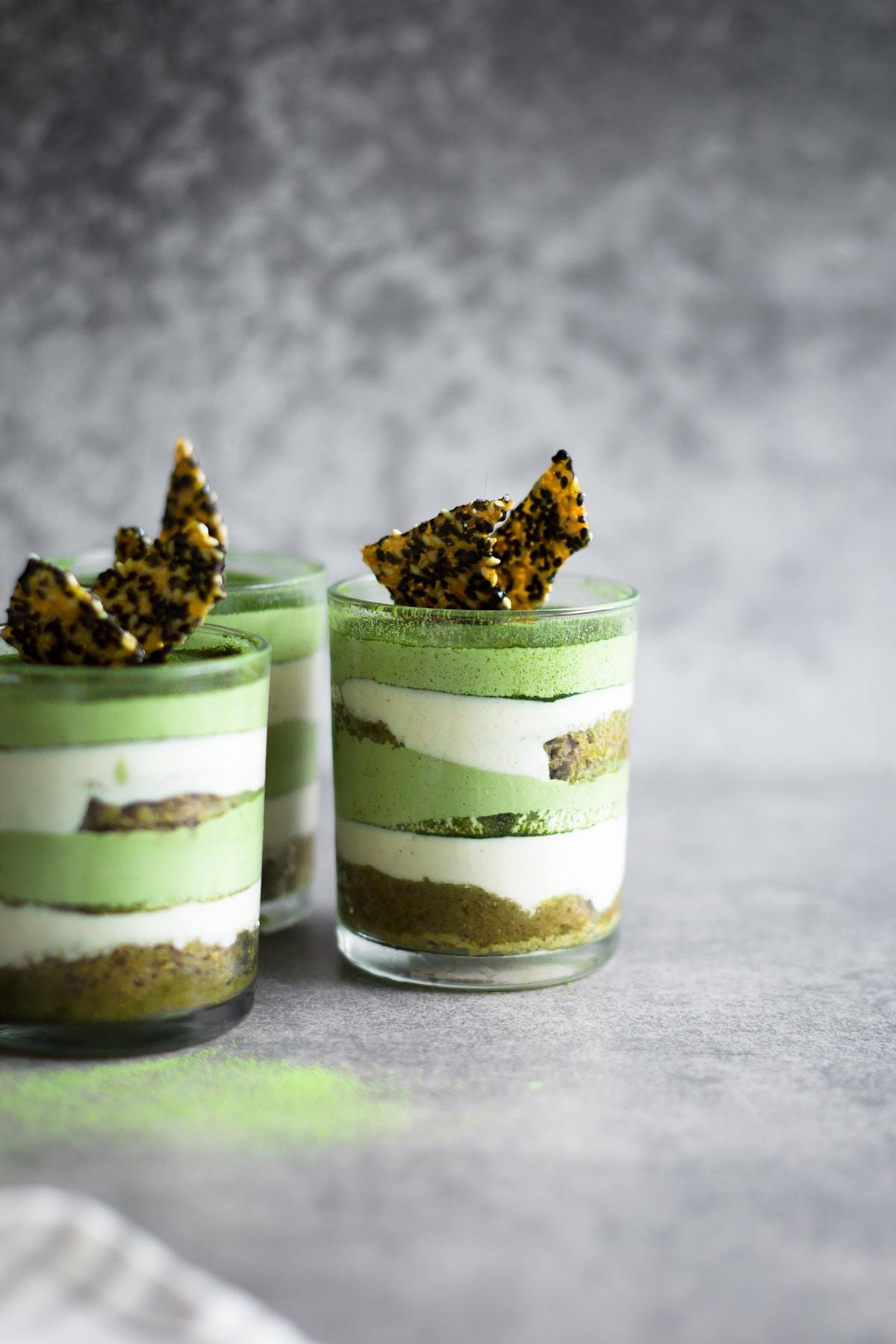 Green Tea Cake Chocolate Cashews