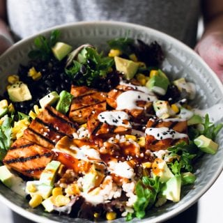 Vegan Barbecue Bowl with Smoked Tofu