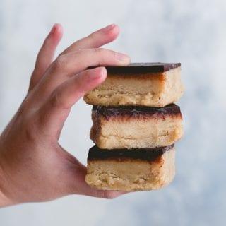 Vegan Tahini Caramel Slice (Date Free)