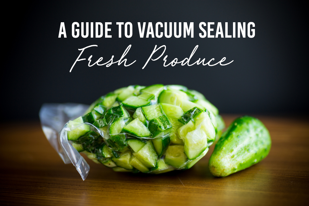 Everything you need to know about vacuum sealing your fresh produce. Save time, money and cut down on waste in one easy step! #vacuumsealing #produce #vegan #foodwaste #timesaving #vegetables #veganhacks #veganlife #veganfood #veggies #fruit