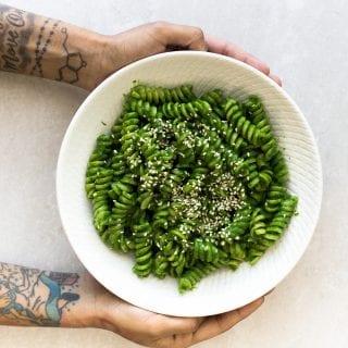 Vegan Miso Pesto Pasta (15 Minutes)
