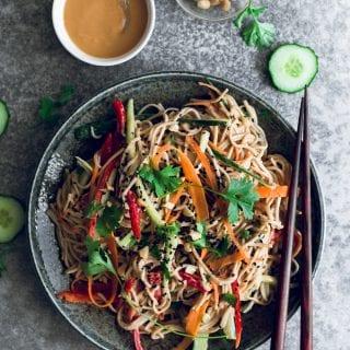 Healthy Peanut Soba Noodle Salad
