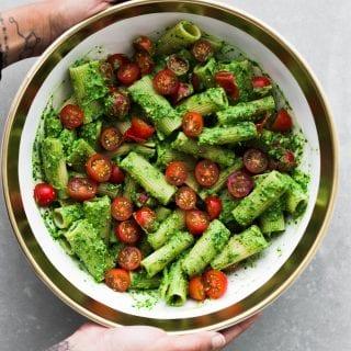 Avocado Pesto Pasta (Dairy Free)