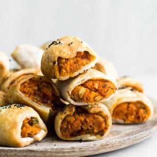 Vegan Sweet Potato Sausage Rolls