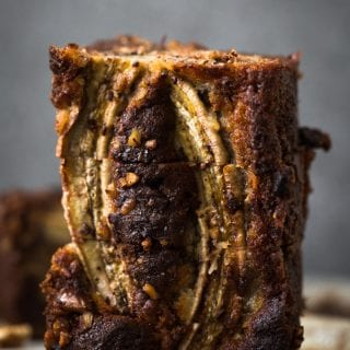Ugly Vegan Banana Bread with Cinnamon Swirl
