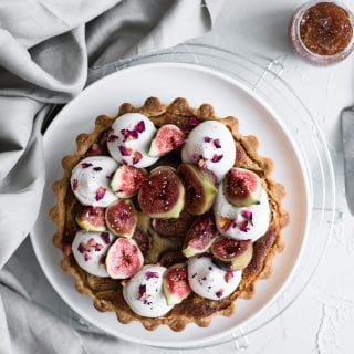 Vegan Fig Tart with Almond Frangipane