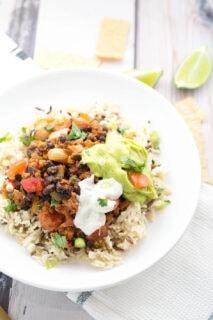 vegan Mexican bowls